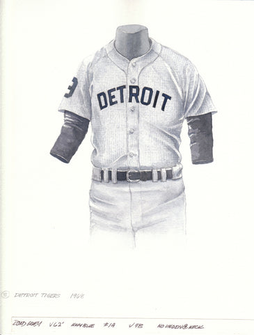 Detroit Tigers 1968 - Heritage Sports Art - original watercolor artwork - 1