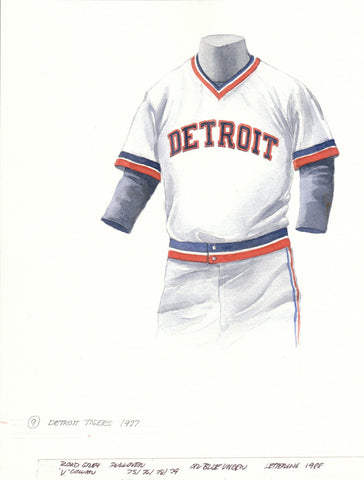 Detroit Tigers 1977 - Heritage Sports Art - original watercolor artwork - 1