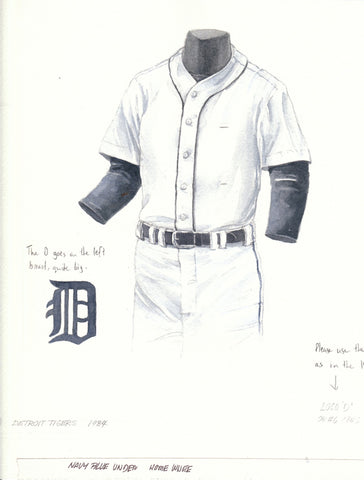Detroit Tigers 1984 - Heritage Sports Art - original watercolor artwork - 1