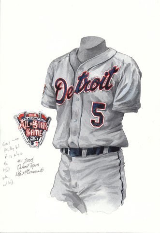 Detroit Tigers 2005 - Heritage Sports Art - original watercolor artwork - 1
