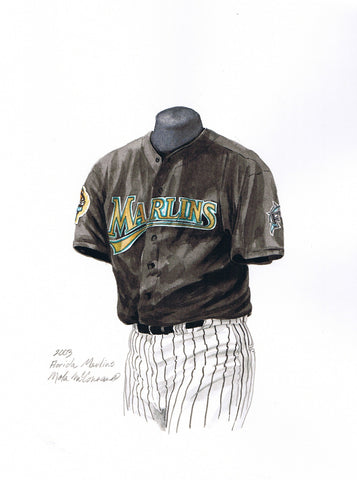 Miami Marlins 2003 - Heritage Sports Art - original watercolor artwork - 1