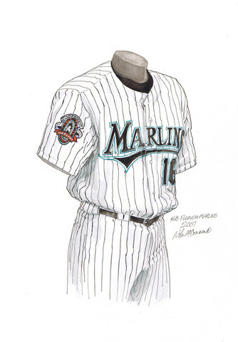 Miami Marlins 2007 - Heritage Sports Art - original watercolor artwork - 1