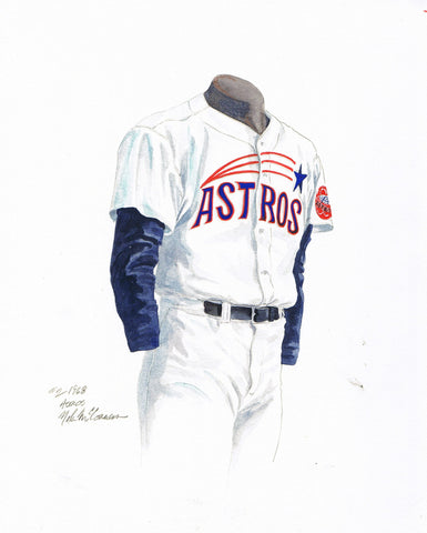 Houston Astros 1968 - Heritage Sports Art - original watercolor artwork - 1
