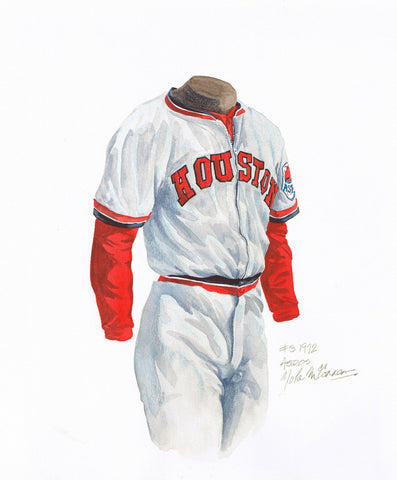 Houston Astros 1972 - Heritage Sports Art - original watercolor artwork - 1