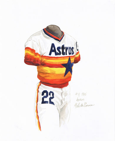 Houston Astros 1975 - Heritage Sports Art - original watercolor artwork - 1