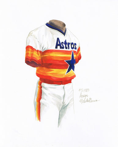 Houston Astros 1983 - Heritage Sports Art - original watercolor artwork - 1