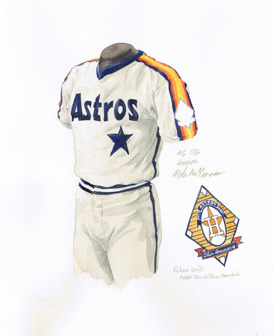 Houston Astros 1986 - Heritage Sports Art - original watercolor artwork - 1