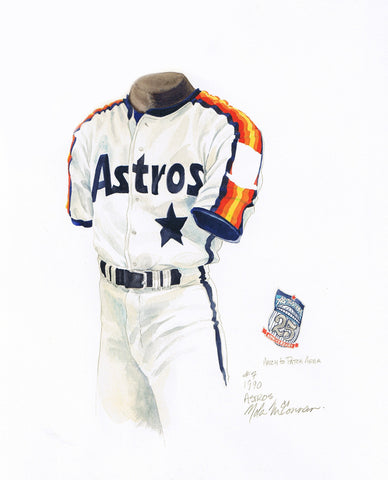 Houston Astros 1990 - Heritage Sports Art - original watercolor artwork - 1