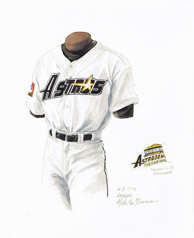 Houston Astros 1994 - Heritage Sports Art - original watercolor artwork - 1