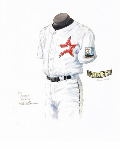 Houston Astros 2000 - Heritage Sports Art - original watercolor artwork - 1