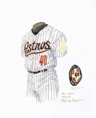 Houston Astros 2001 - Heritage Sports Art - original watercolor artwork - 1