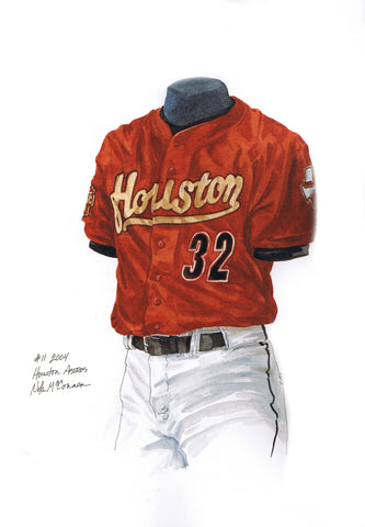 Houston Astros 2004 - Heritage Sports Art - original watercolor artwork - 1