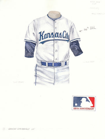 Kansas City Royals 1969 - Heritage Sports Art - original watercolor artwork - 1