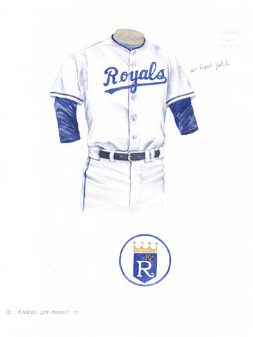 Kansas City Royals 1971 - Heritage Sports Art - original watercolor artwork - 1