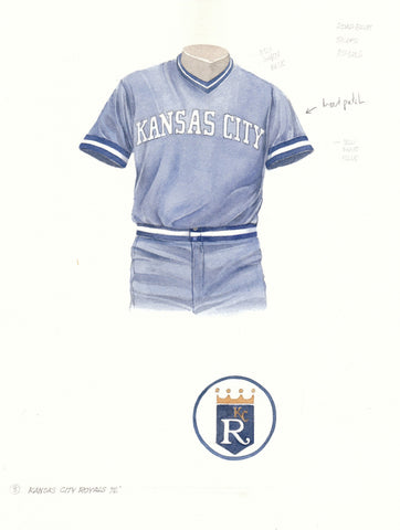 Kansas City Royals 1976 - Heritage Sports Art - original watercolor artwork - 1