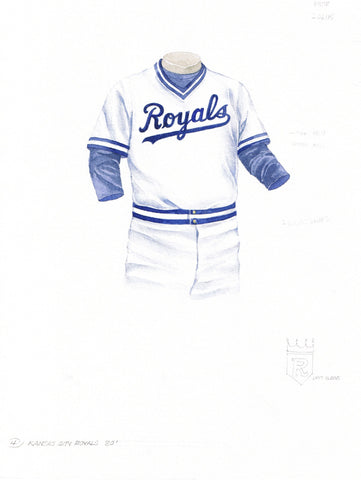 Kansas City Royals 1980 - Heritage Sports Art - original watercolor artwork - 1