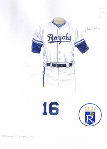 Kansas City Royals 1985 White - Heritage Sports Art - original watercolor artwork - 1