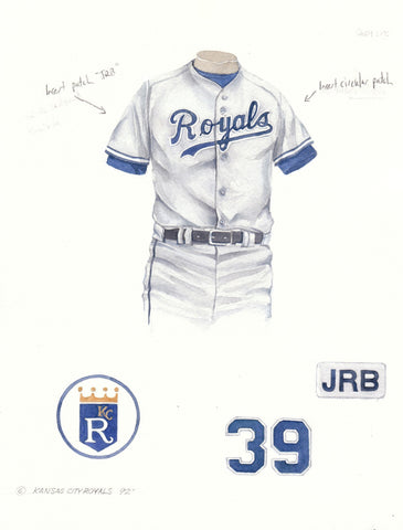 Kansas City Royals 1992 - Heritage Sports Art - original watercolor artwork - 1