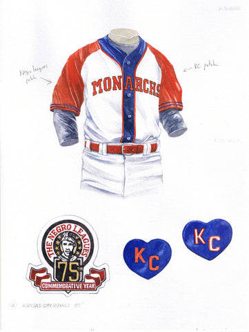 Kansas City Royals 1995 Throwback - Heritage Sports Art - original watercolor artwork - 1