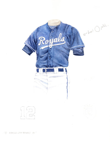 Kansas City Royals 1998 - Heritage Sports Art - original watercolor artwork - 1