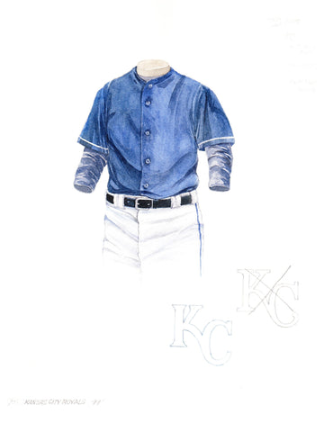 Kansas City Royals 1999 - Heritage Sports Art - original watercolor artwork - 1