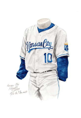 Kansas City Royals 2007 - Heritage Sports Art - original watercolor artwork - 1