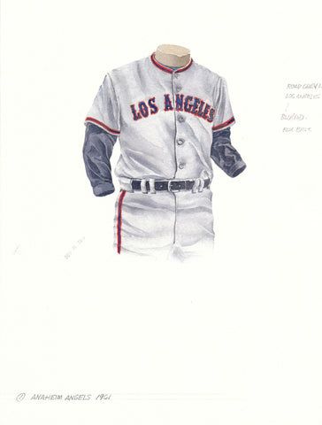 Los Angeles Angels of Anaheim 1961 - Heritage Sports Art - original watercolor artwork - 1