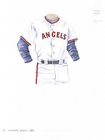 Los Angeles Angels of Anaheim 1967 - Heritage Sports Art - original watercolor artwork - 1