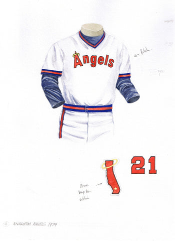 Los Angeles Angels of Anaheim 1979 - Heritage Sports Art - original watercolor artwork - 1