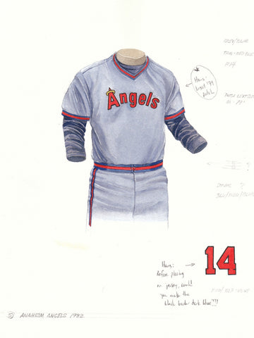 Los Angeles Angels of Anaheim 1982 - Heritage Sports Art - original watercolor artwork - 1