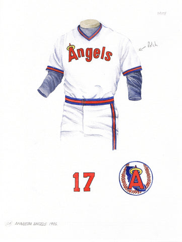 Los Angeles Angels of Anaheim 1986 - Heritage Sports Art - original watercolor artwork - 1