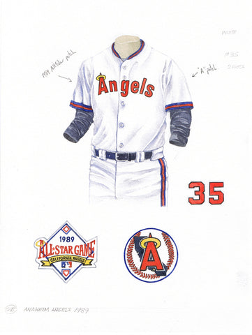 Los Angeles Angels of Anaheim 1989 - Heritage Sports Art - original watercolor artwork - 1