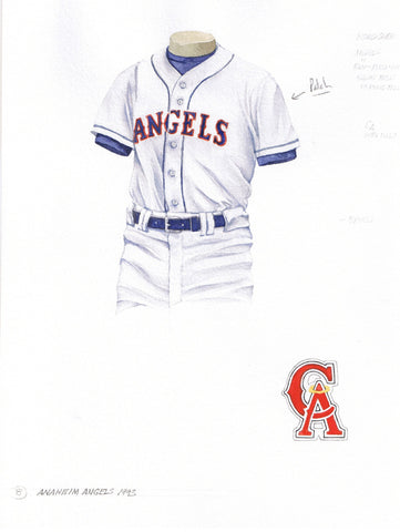 Los Angeles Angels of Anaheim 1993 - Heritage Sports Art - original watercolor artwork - 1
