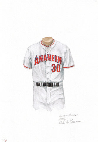 Los Angeles Angels of Anaheim 2002 - Heritage Sports Art - original watercolor artwork - 1