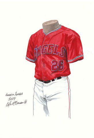 Los Angeles Angels of Anaheim 2007 - Heritage Sports Art - original watercolor artwork - 1