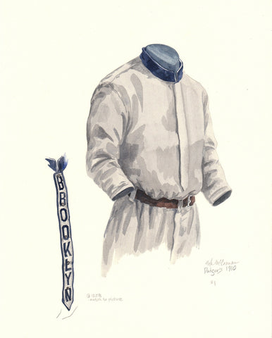 Los Angeles Dodgers 1910 - Heritage Sports Art - original watercolor artwork - 1