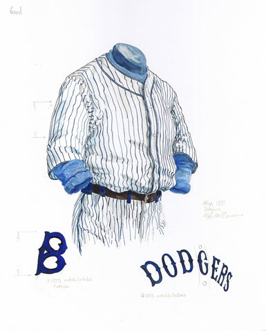Los Angeles Dodgers 1933 - Heritage Sports Art - original watercolor artwork - 1
