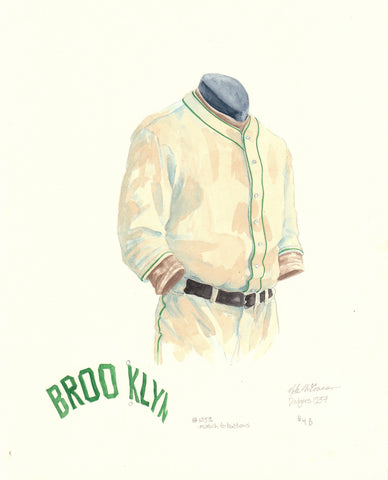 Los Angeles Dodgers 1937 - Heritage Sports Art - original watercolor artwork - 1