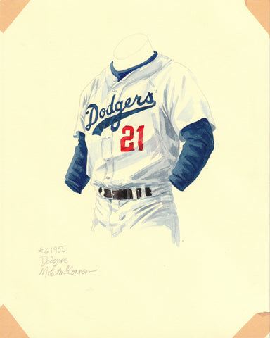 Los Angeles Dodgers 1955 - Heritage Sports Art - original watercolor artwork - 1