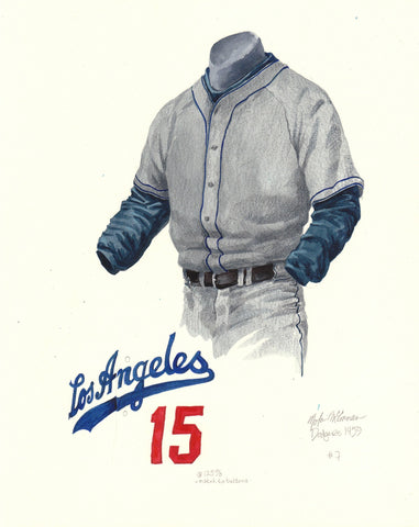 Los Angeles Dodgers 1959 - Heritage Sports Art - original watercolor artwork - 1