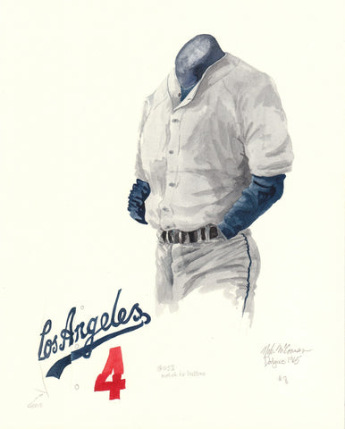 Los Angeles Dodgers 1965 - Heritage Sports Art - original watercolor artwork - 1