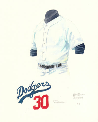 Los Angeles Dodgers 1977 - Heritage Sports Art - original watercolor artwork - 1