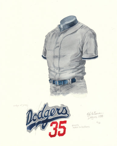 Los Angeles Dodgers 1988 - Heritage Sports Art - original watercolor artwork - 1
