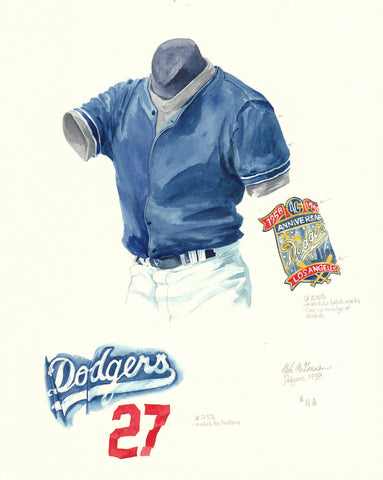 Los Angeles Dodgers 1998 - Heritage Sports Art - original watercolor artwork - 1