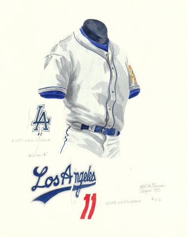 Los Angeles Dodgers 1999 - Heritage Sports Art - original watercolor artwork - 1