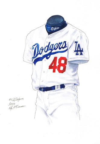 Los Angeles Dodgers 2004 - Heritage Sports Art - original watercolor artwork - 1