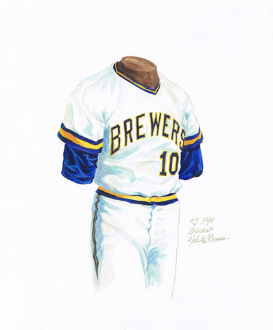 Milwaukee Brewers 1974 - Heritage Sports Art - original watercolor artwork - 1