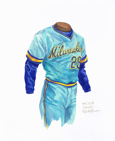 Milwaukee Brewers 1978 - Heritage Sports Art - original watercolor artwork - 1