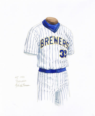 Milwaukee Brewers 1981 - Heritage Sports Art - original watercolor artwork - 1