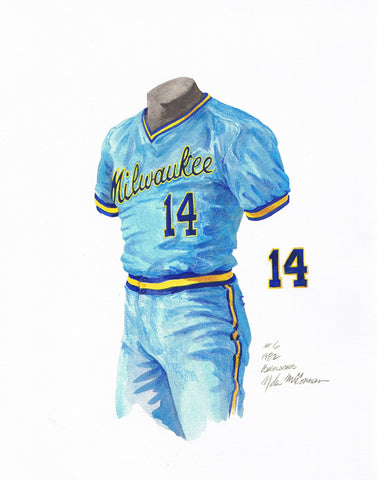 Milwaukee Brewers 1982 - Heritage Sports Art - original watercolor artwork - 1